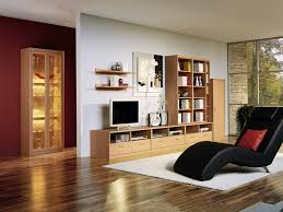 wooden cabinets for living room contemporary living room with chaiselounge and wood cabinets 848