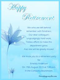 retirement party invitation wording ideas and samples wordings