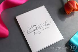 Card From Bride To Groom On Wedding Day Son Daughter In Law Wedding Card For Wedding Day Marrygrams