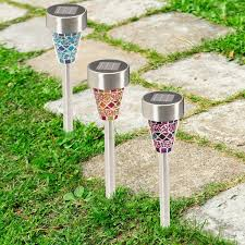 Bright Solar Landscape Lights Solarek Solar Powered Mosaic Garden Lawn Path