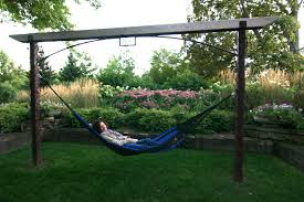 Hammock Swing With Stand Furniture Enchanting Lowes Hammock With Iron Frame For Lounge