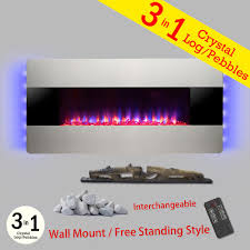 silver electric fireplaces fireplaces the home depot