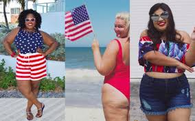 American Flag Plus Size Shorts Curvy Sam Plus Size Fashion Travel Beauty Happiness
