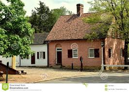 old salem nc 18th century moravian houses editorial photo
