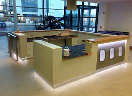 Commercial Reception Desk Ryanair Hq Reception Desk Www Systemplus Ie Interiors