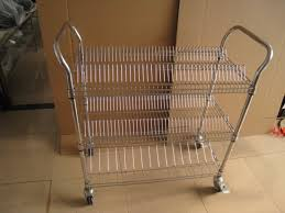 Wire Shelf Cart Smt Reel Storage Handle Cart Single And Double Peak Wire Metal