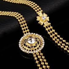 gold filled necklace set images Online shop gothic 24k gold filled jewelry sets hollow indian jpg