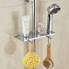2017 abs shower soap box without removing the shower rod holder