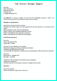 Truck Driver Resume Format Resume Sample Taxi Driver Augustais