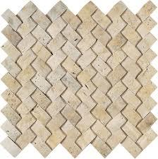 light gold herringbone travertine mosaic tile arizona tile