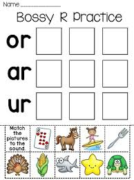 bossy r fun worksheets worksheets phonics and literacy