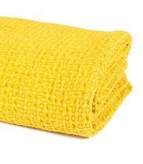plaid jeté de canapé jeté de canapé couvre lit jaune 100 coton plaid addict vente