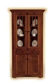 amish shaker 2 door corner hutch corner hutch drawers and doors