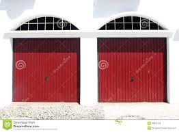 two red garage doors stock photo image 46875120