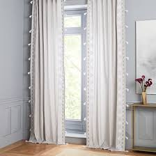 White Grey Curtains Gray Curtains West Elm