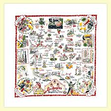 Los Angeles City Map Los Angeles Map Towel Red And White Kitchen Company