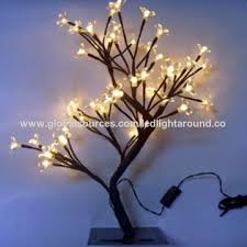 china h45cm led tree table light 48pcs bulbs globe plastic cover