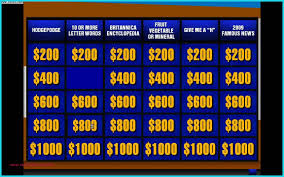 Jeopardy Powerpoint Template With Sound Awesome Jeopardy Template Jepordy Template