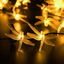 LUCKLED Patio Solar Powered String Lights 30 LED 19 6ft Dragonfly