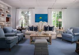 beach house coastal living room palm beach blue and white