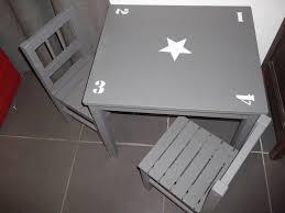 table et chaise pour b b cuisine ensemble pour enfant table et chaises en bois patine gris