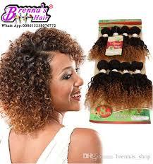 crochet black weave hair pack for full head black blonde brazilian kinky curly virgin human