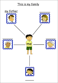 preschool family worksheets yahoo image search results