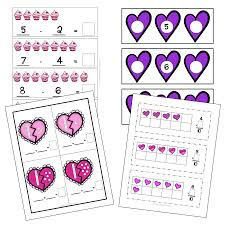 valentine u0027s day math and literacy centers with printable