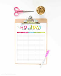 gift shopping list free printable gift shopping list