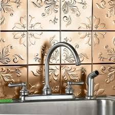 Embossed Tin Backsplash by Decorating Unique Backsplash Designs With Brylanehome Floral