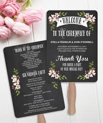 country wedding programs diy printable wedding fan programs country bloom chalk wedding