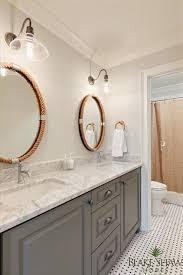 Oval Mirrors For Bathroom Oval Bathroom Rope Mirrors Transitional Bathroom