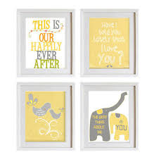 Yellow And Grey Nursery Decor Fascinating 30 Grey And White Wall Decor Decorating Design Of