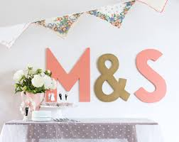 wedding backdrop font set 3 wedding letters cutout signs and groom initials