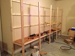 Basement Wooden Shelves Plans by How To Build Sturdy Garage Shelves Home Improvement Stack