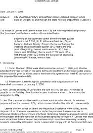 download oregon commercial lease agreement sample for free tidyform