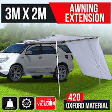 4wd Shade Awning 3m X 2m Car Awning Extension Sun Shade Camper T Outbaxcamping