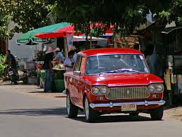 nice classic fiat 1300 near hua hin train station thailand a
