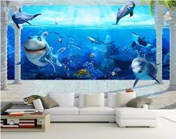 online get cheap sea turtle wall mural aliexpress com alibaba group 3d wall murals wallpaper for walls 3d room wallpapers dolphins and sea turtles decoration painting custom