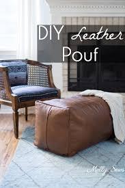 leather pouf ottoman melly sews