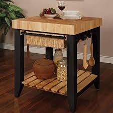 kitchen block island powell color story black butcher block kitchen island