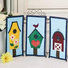 birdhouse quilt pattern trio tabletop birdhouse quilt patterns