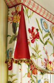 Decorative Trim For Curtains Shaped Flat Valance With Contrasting Pleats And Angled Band Across