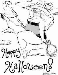 hard halloween coloring pages printable for halloween coloring