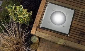 Led Solar Deck Lights - ten led solar deck lights groupon goods