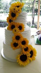 sunflower wedding summer sunflower wedding cake cakecentral