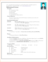 curriculum vitae format for freshers pdf top mechanical engineering resume format for fresher pdf best