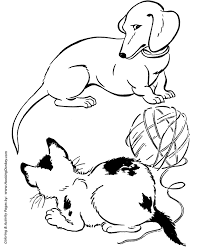 dog and puppy coloring pages dog coloring pages printable dachshund dog coloring page sheet