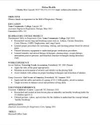 Occupational Therapy Resume Template Respiratory Therapist Resume Examples Resume Example And Free