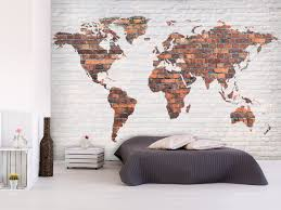 wall mural world map colourful crystals world maps wall murals wall mural